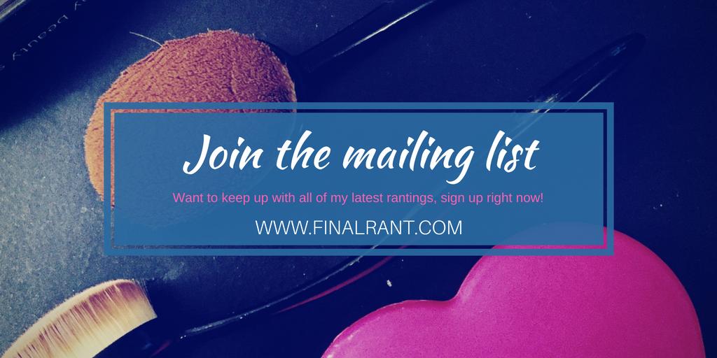 finalrant mailing list